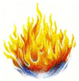 但願聖靈如火般燒旺我!