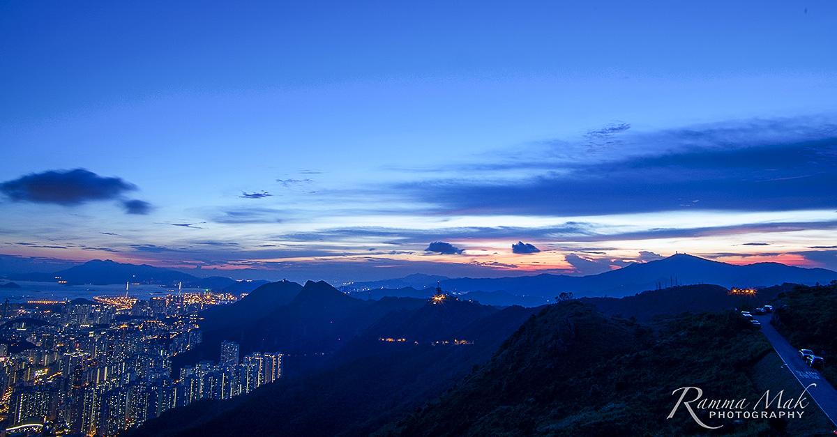 飛鵝山欣賞日落與夜景