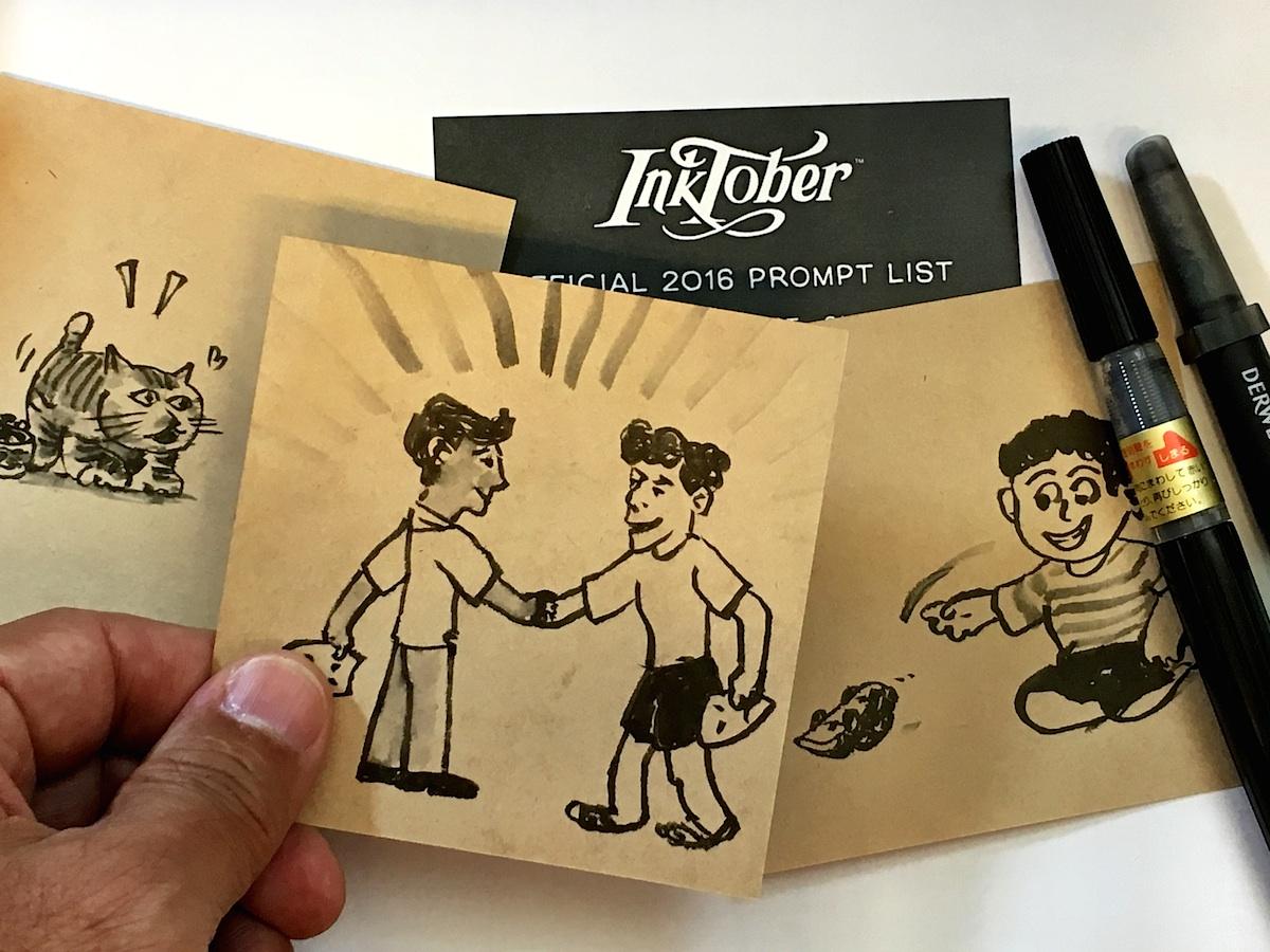 完成 Inktober 2016 繪畫挑戰及作品記錄片