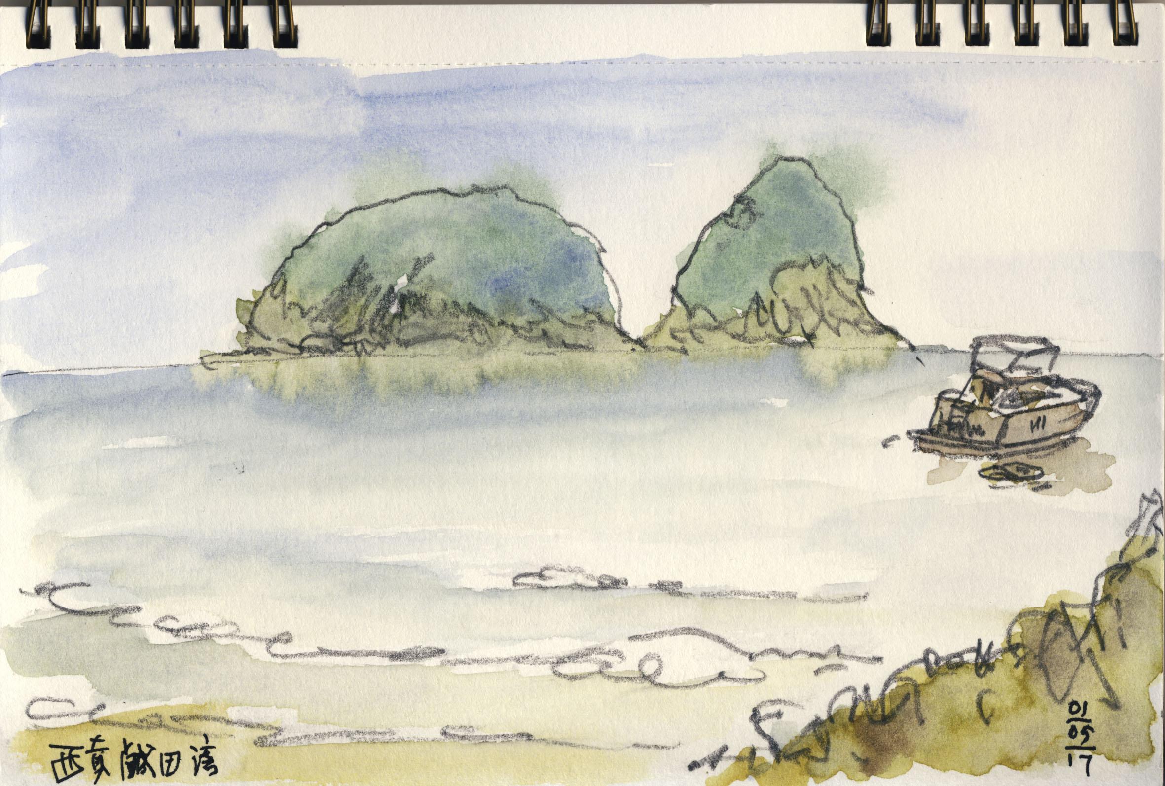 寫生:西貢咸田灣