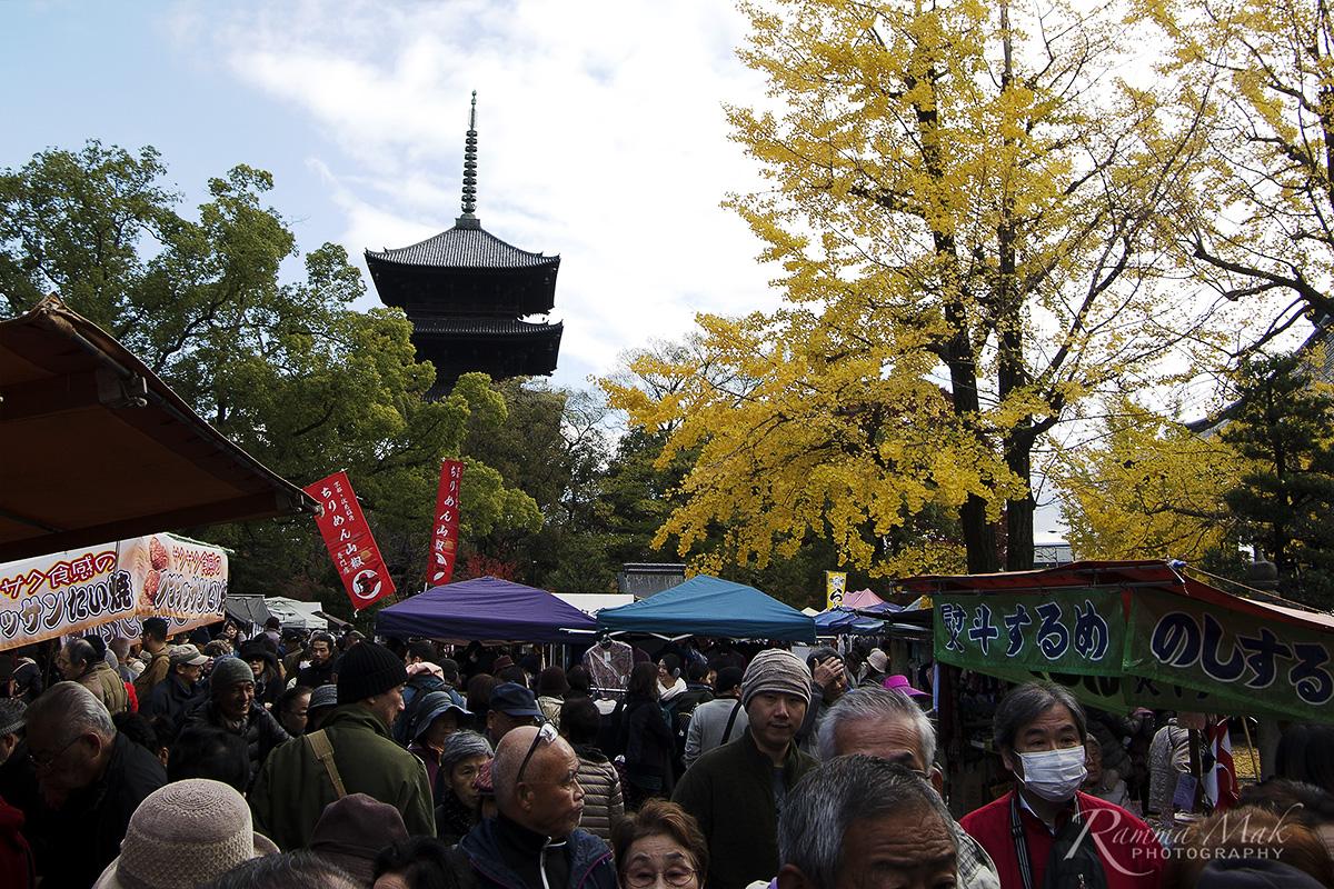 2017暢遊京都、琵琶湖——東寺弘法市集