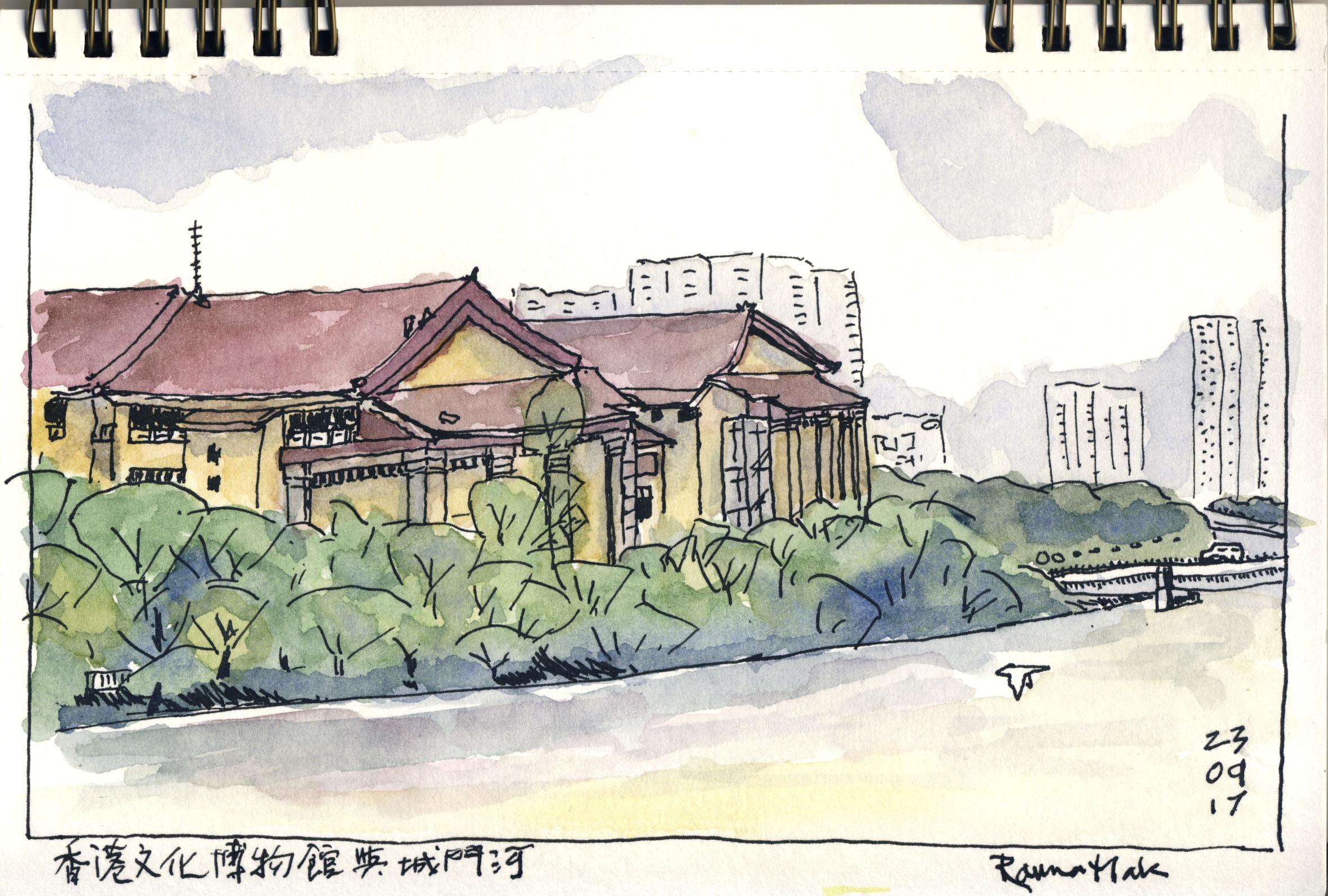 城市速寫:香港文化博物館與城門河